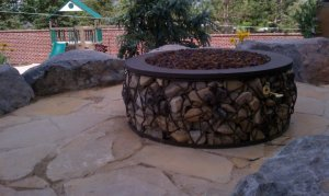 Fire pit custom natural gas