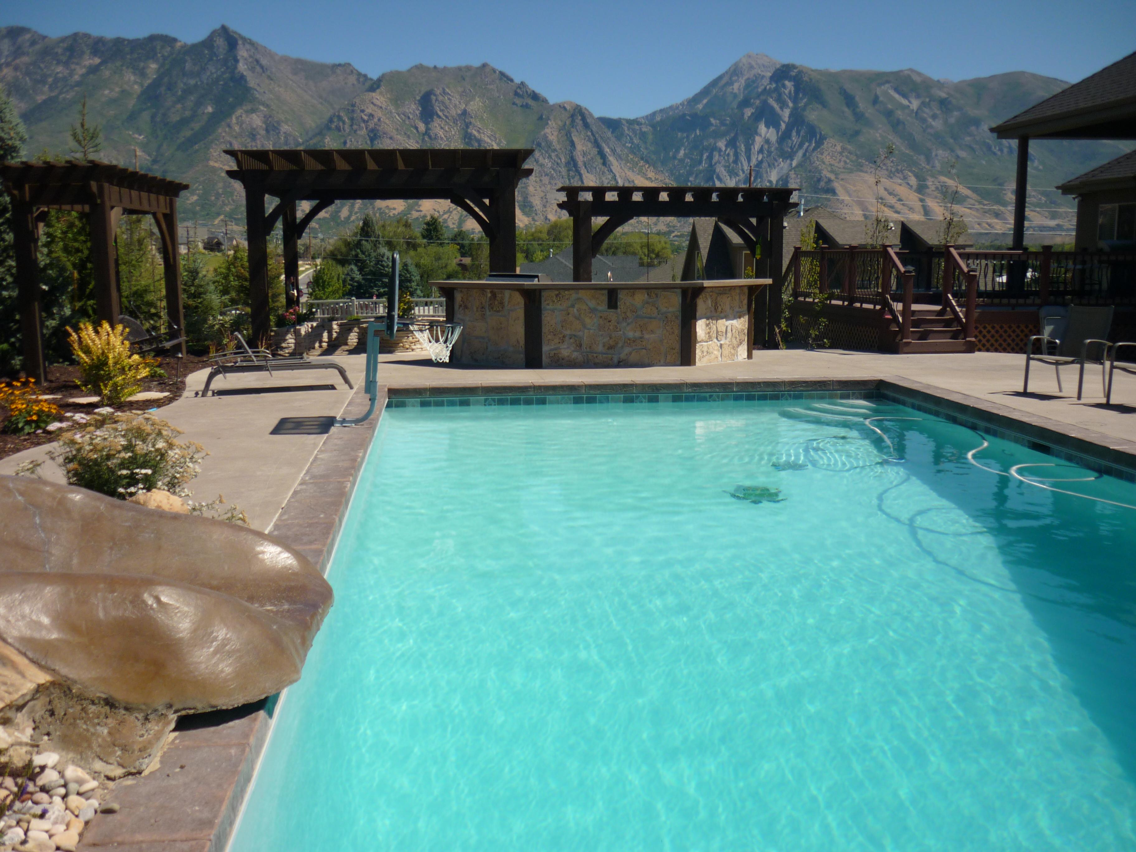 20 x 40 gunite swimming pool in utah chris jensen for Pool design utah