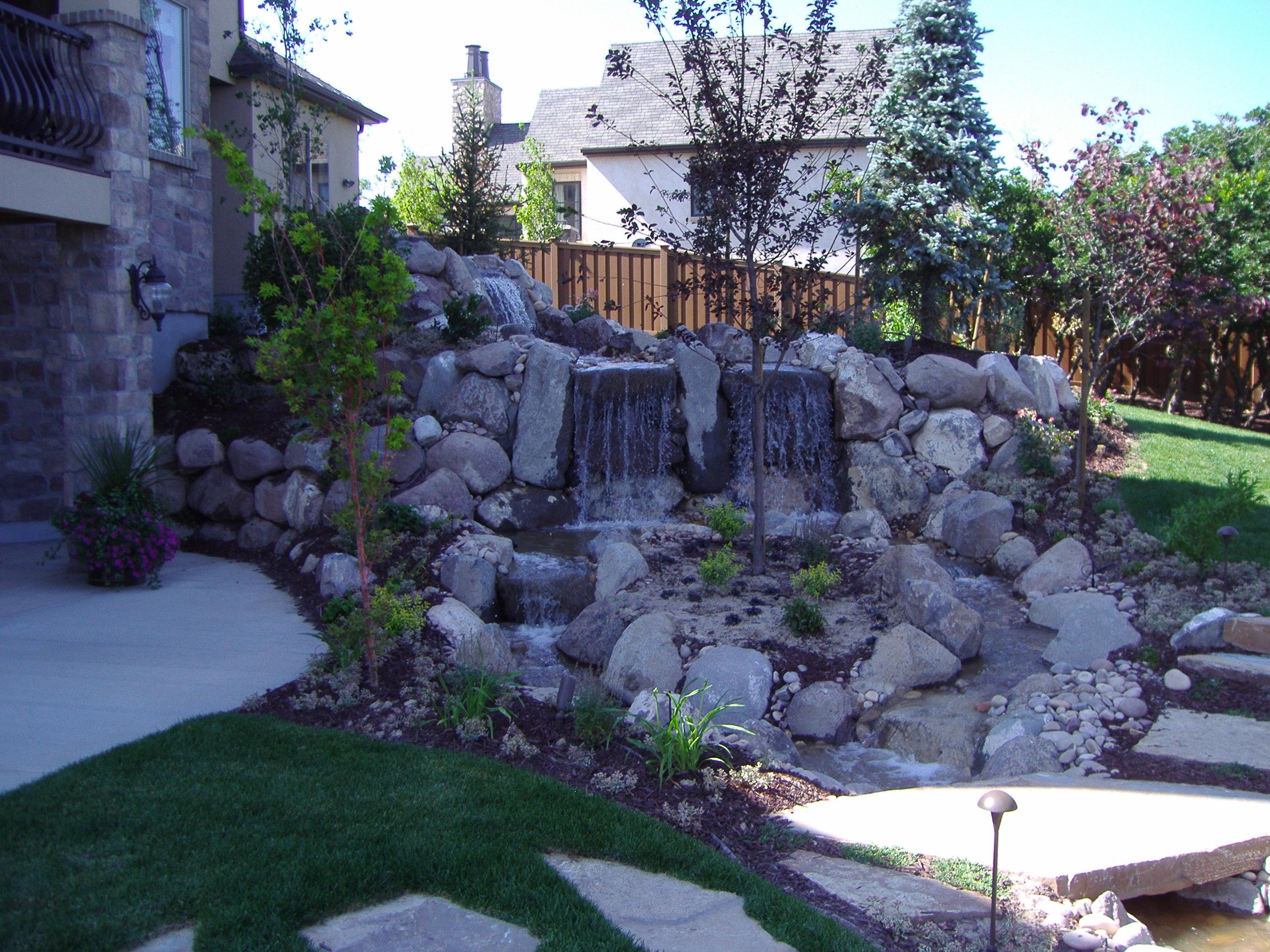 Highland utah chris jensen landscaping in salt lake for Landscaping rocks utah county