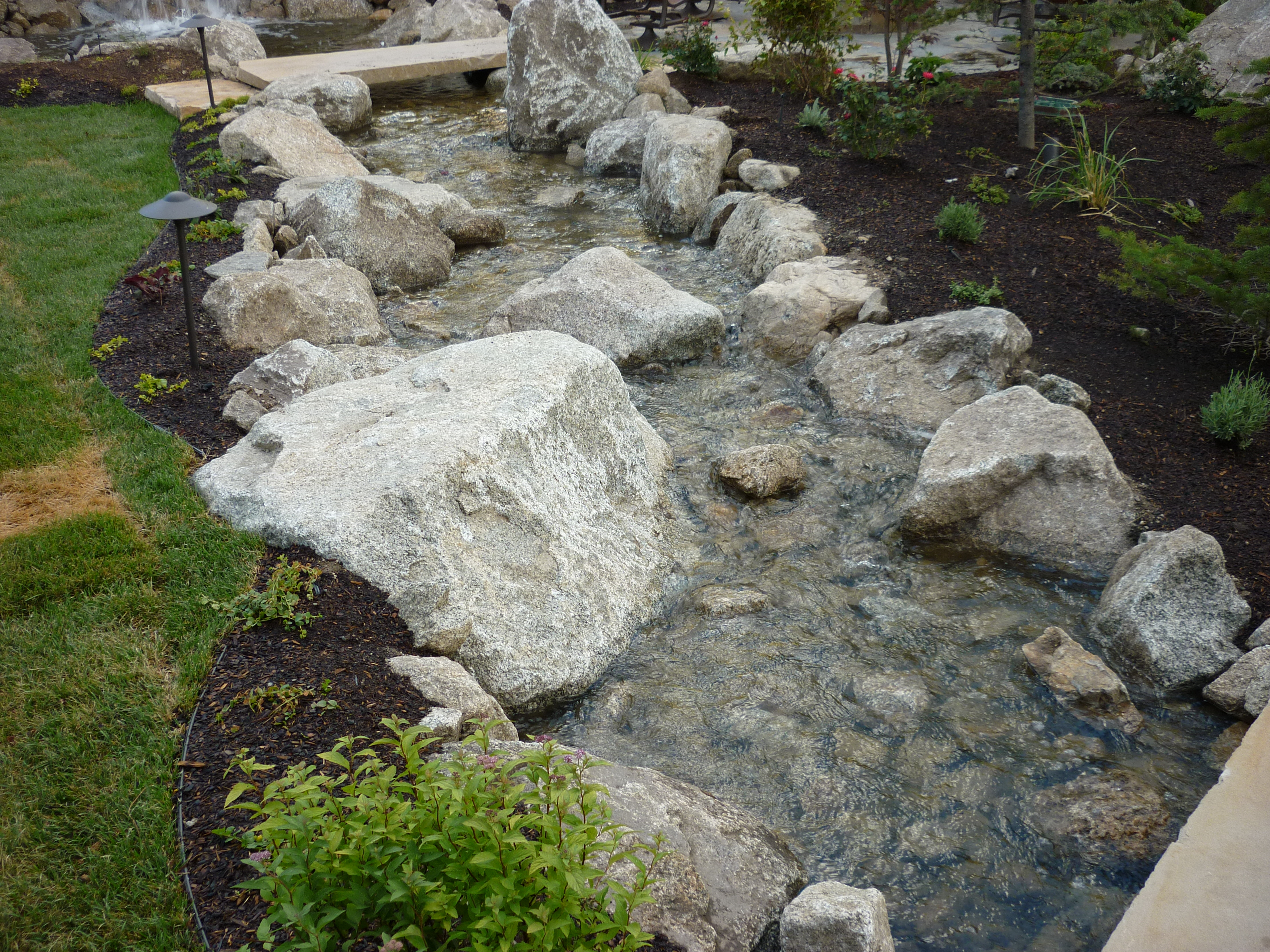 Water features ponds streams and rock features chris for Landscaping rocks in salt lake city