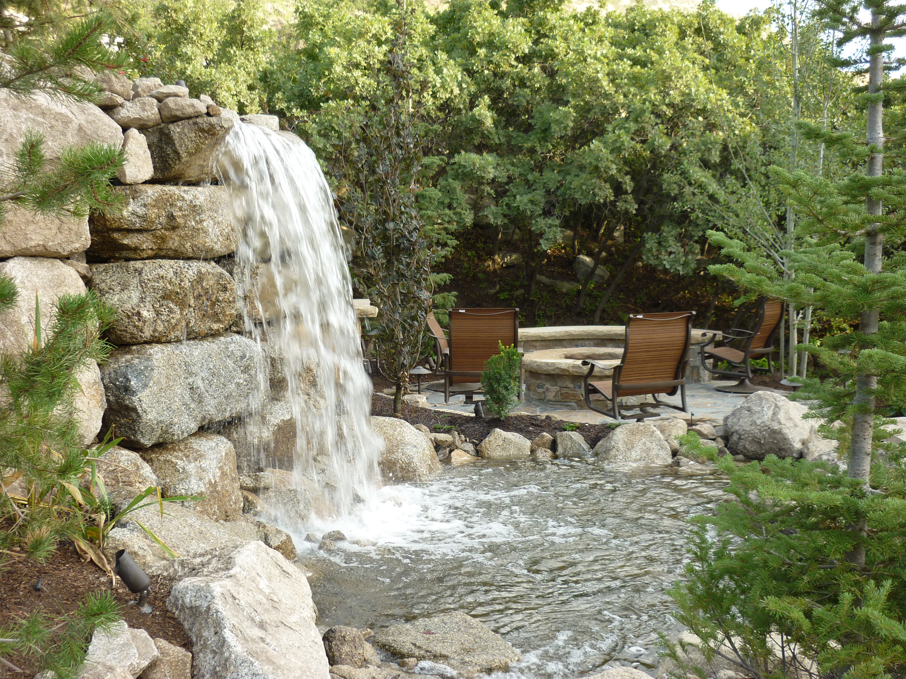Water features ponds streams and rock features chris for Landscaping rocks ogden utah