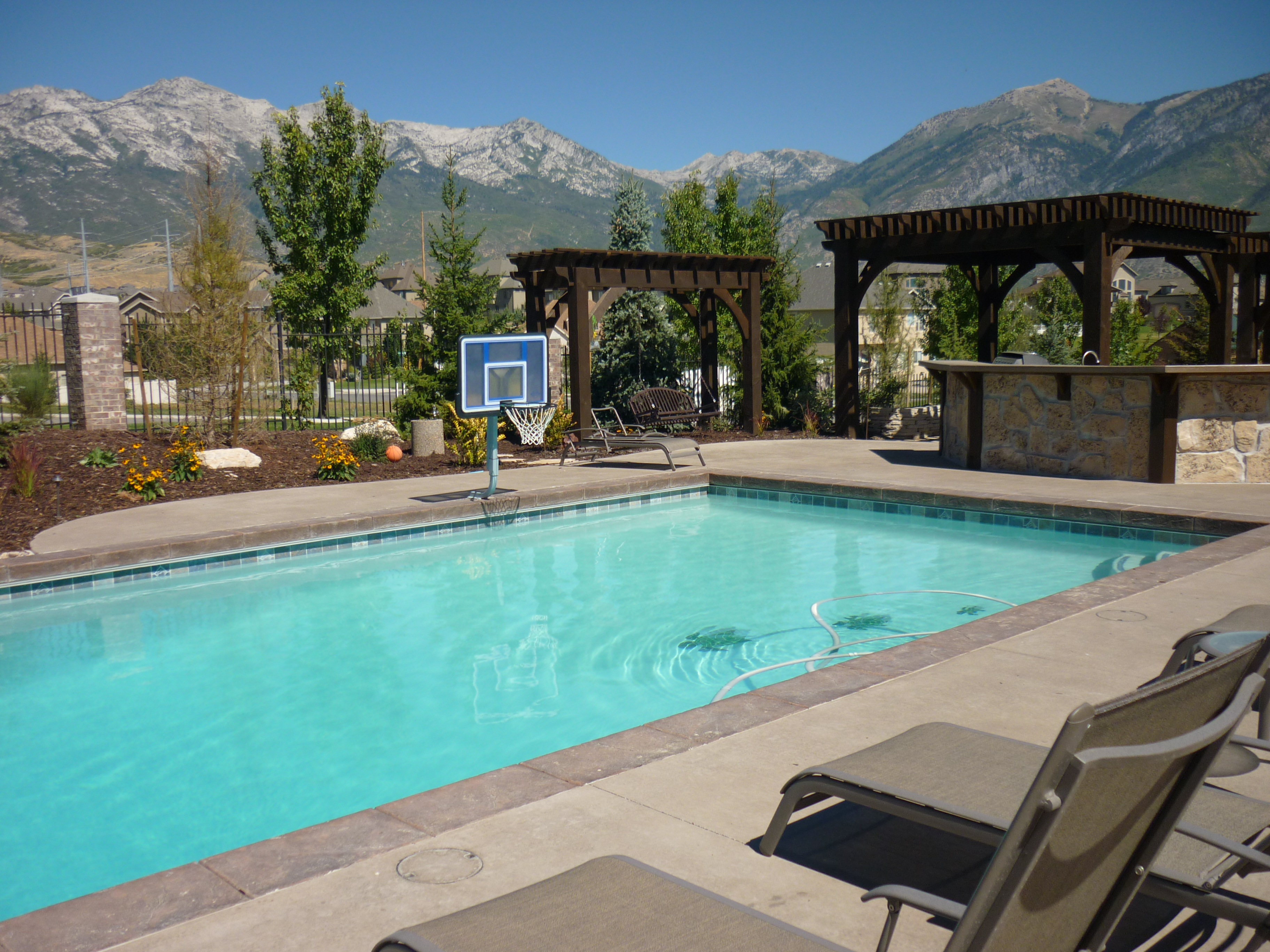 Utah Gunite Pools And Slide Companies In Utah Chris Jensen Landscaping In Salt Lake City And