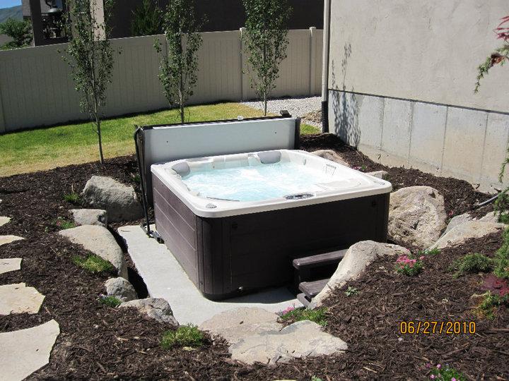 Hot Tub Chris Jensen Landscaping In Salt Lake City And