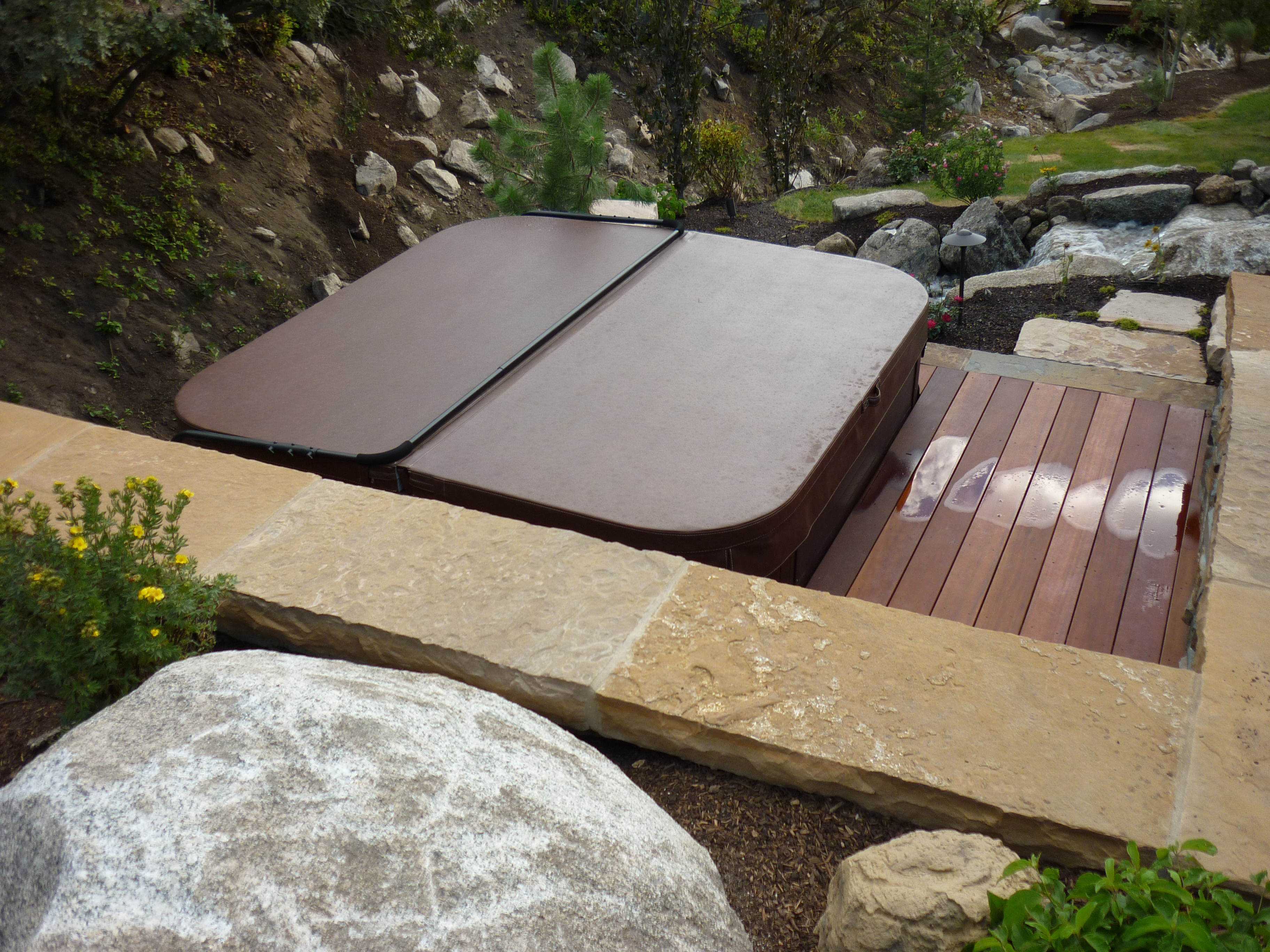 Hot tub landscaping ideas joy studio design gallery for Hot tub landscape design