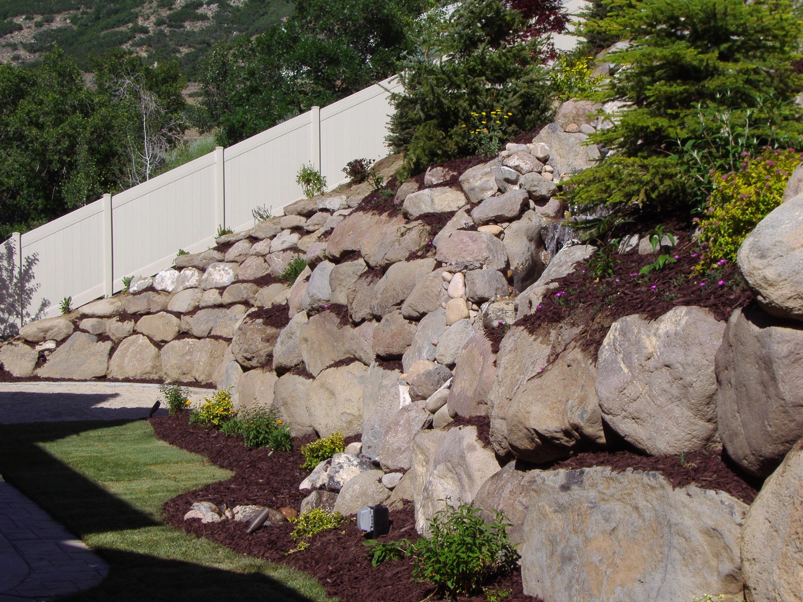 Utah rock wall and retaining wall company block walls for Landscaping rocks in salt lake city