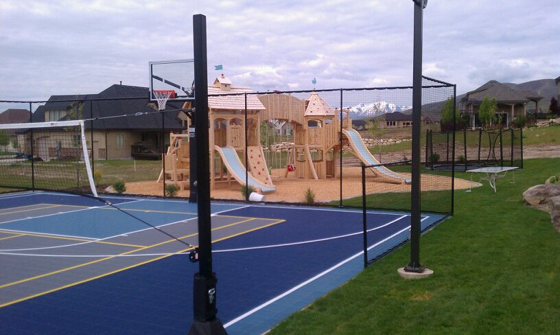 utah sports courts play grounds backyards trampolines ForSport Court Utah