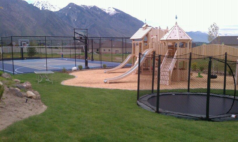 Utah sports courts play grounds backyards trampolines for Swimming pool design utah
