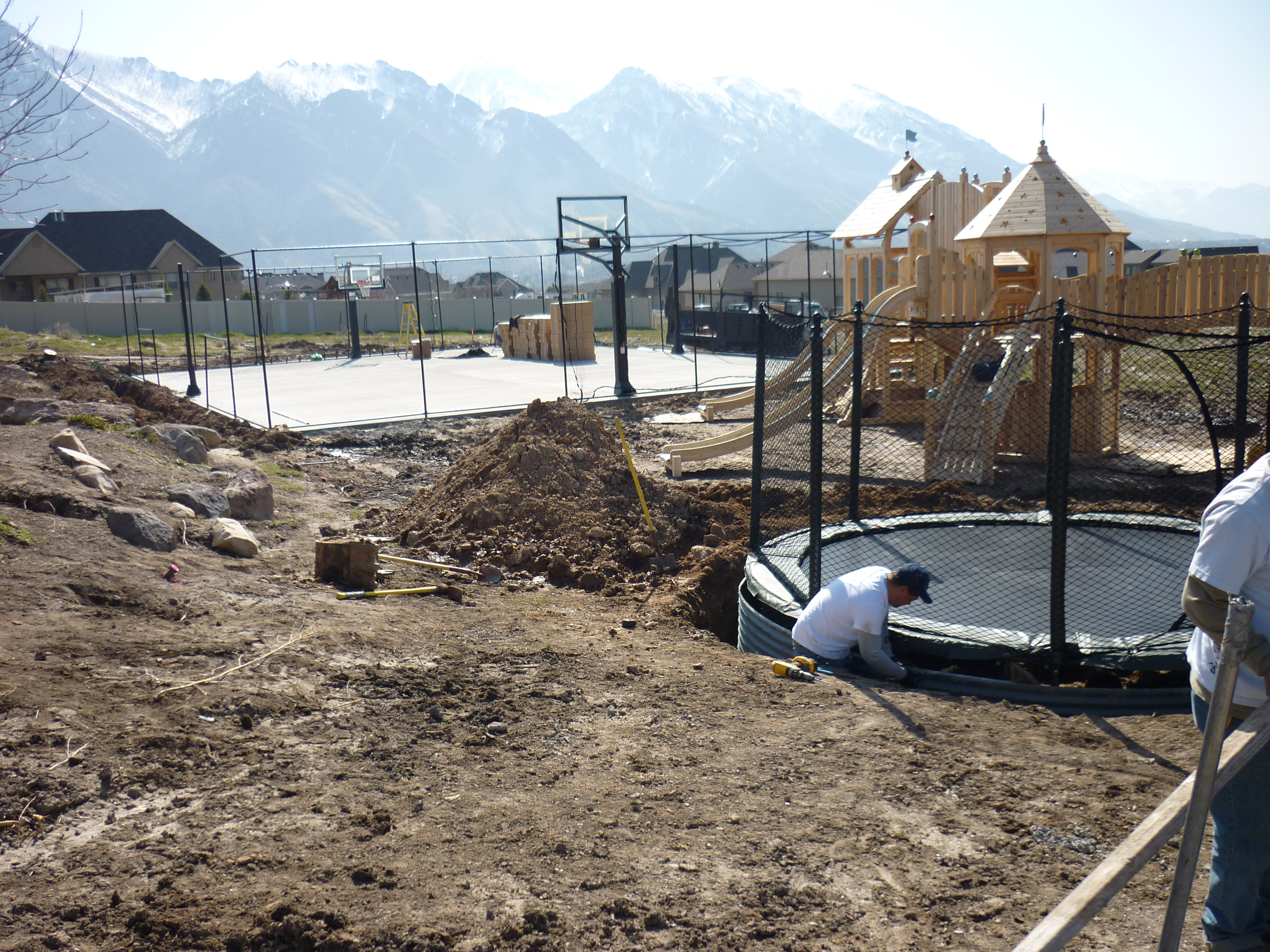 In The Ground Trampoline In Alpine Utah Chris Jensen