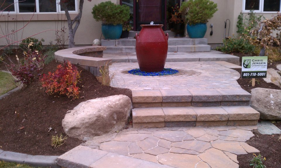 Utah Paver Company In Utah And A Water Feature Fountain In