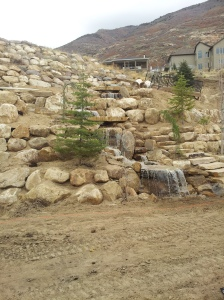 Utah Paver company in Utah and a water feature fountain in the landscaping