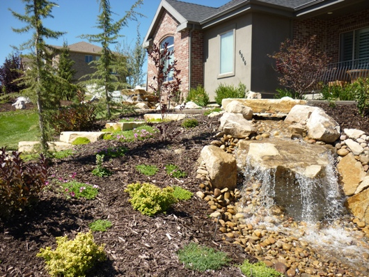 Utah water feature companies and water fall company rock for Landscaping rocks utah county