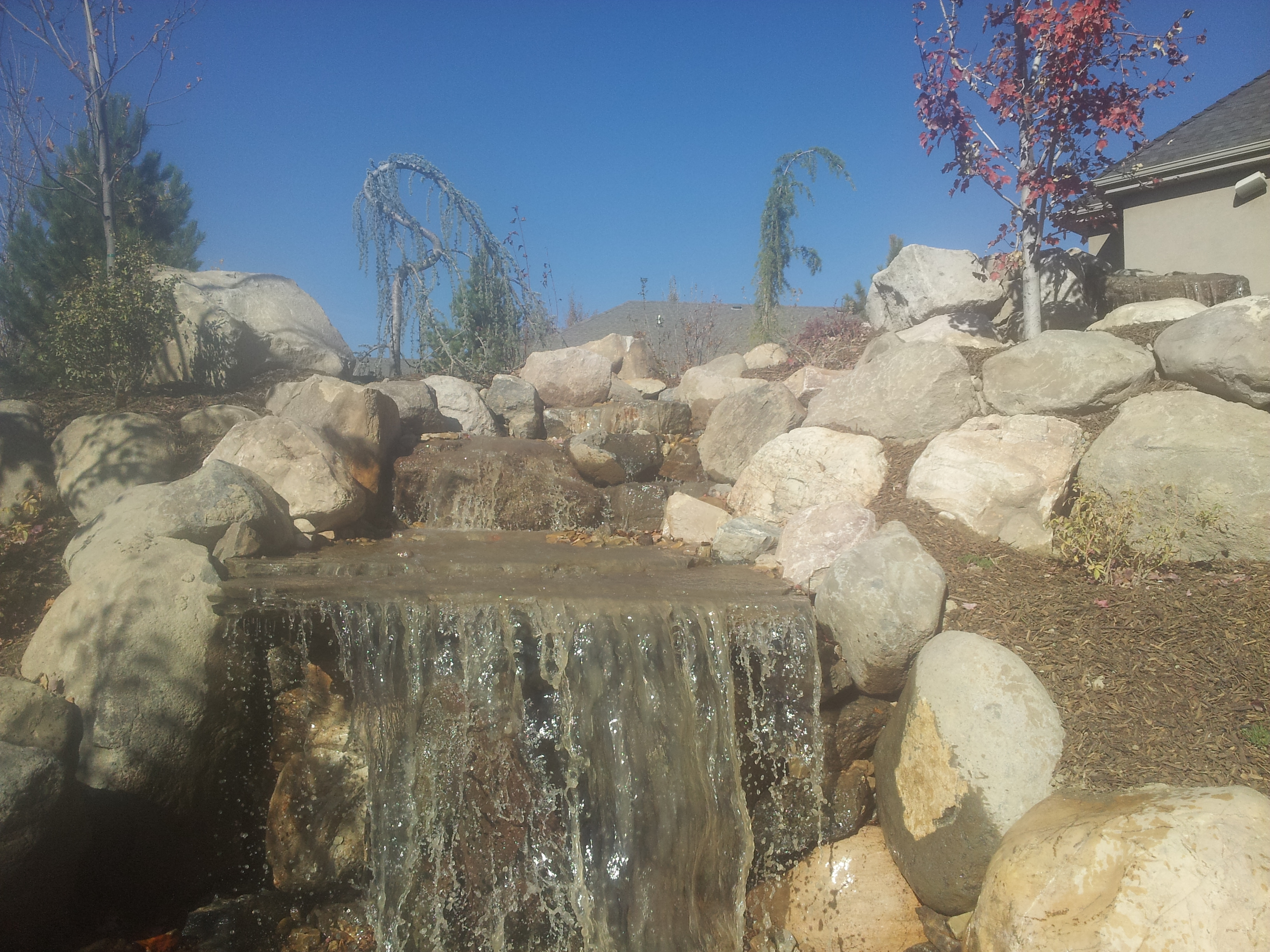 Utah water features water falls rock water features and for Landscaping rocks in salt lake city