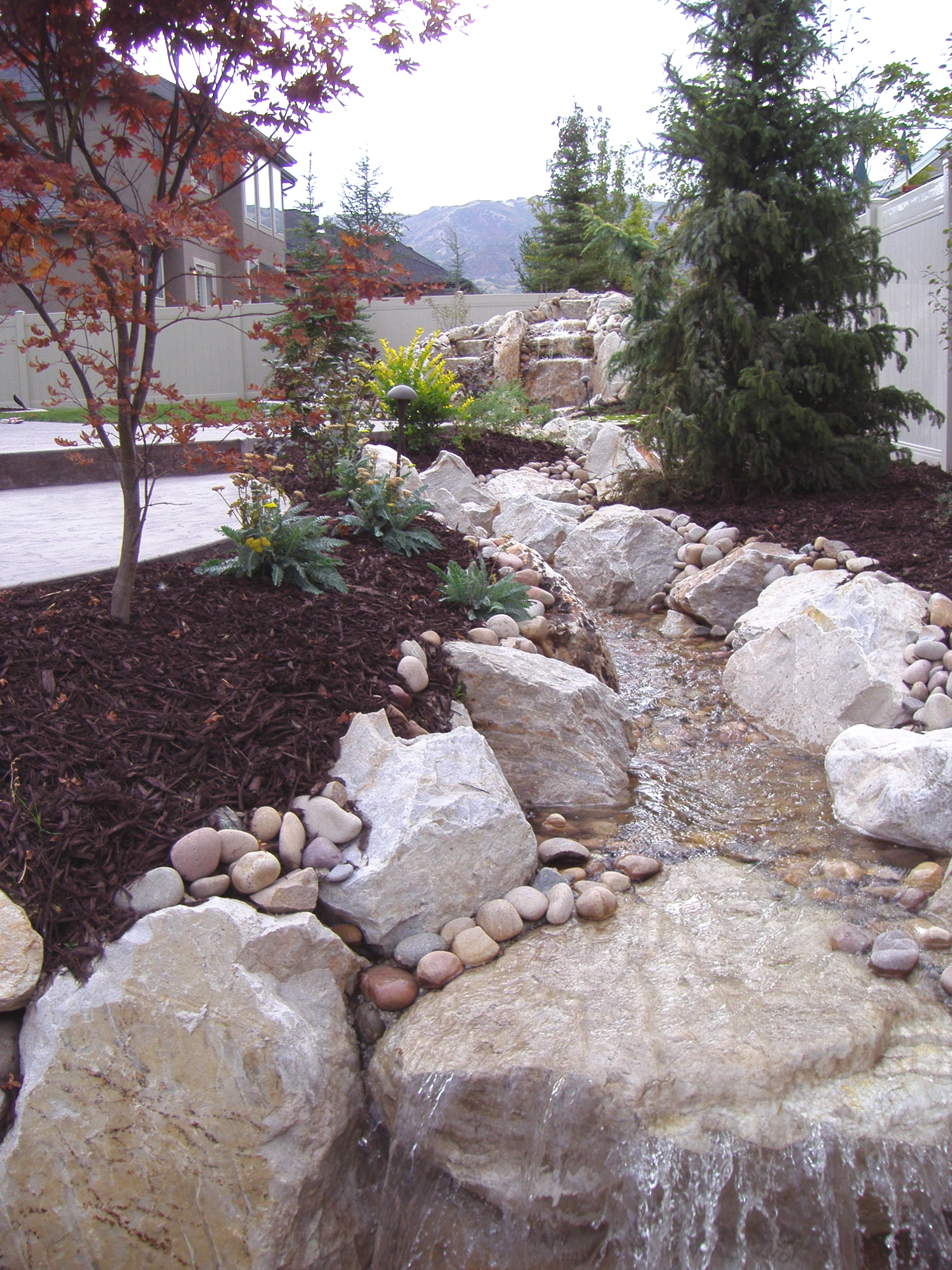 Utah water features water falls rock water features and for Landscaping rocks utah county