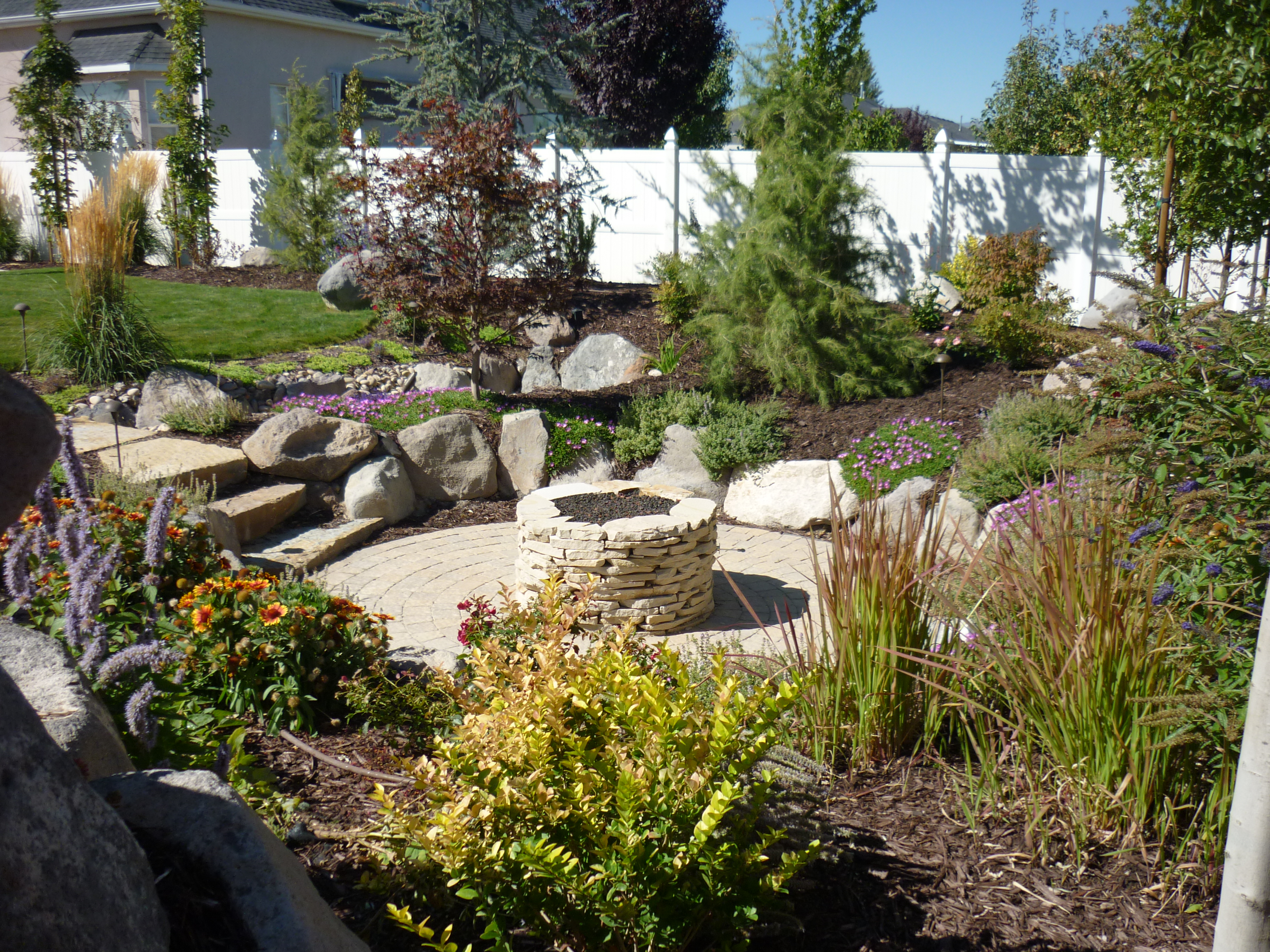 Water And Fire Features For Backyards : Landscapers, landscaping, Swimming pools and construction in Salt lake