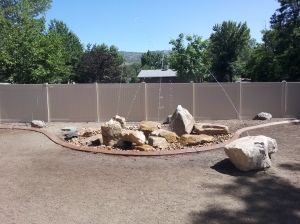 Fun water feature in Utah