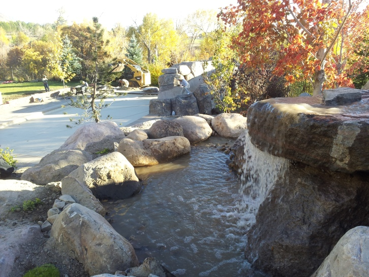 utah landscapers landscape landscaping the backyard with waterfalls swimming pool pergolas