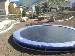 Custom landscaping and gas fire pits in farmington Utah