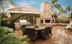 Landscaping, fire pits,  design, patios, Water feature in the backyard