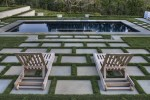 Contemporary-landscape. Landscaping, fire pits,  design, patios, Water feature in the backyard