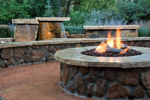 Gas Fire Pit Log Landscaping Fire Pits Design Patios