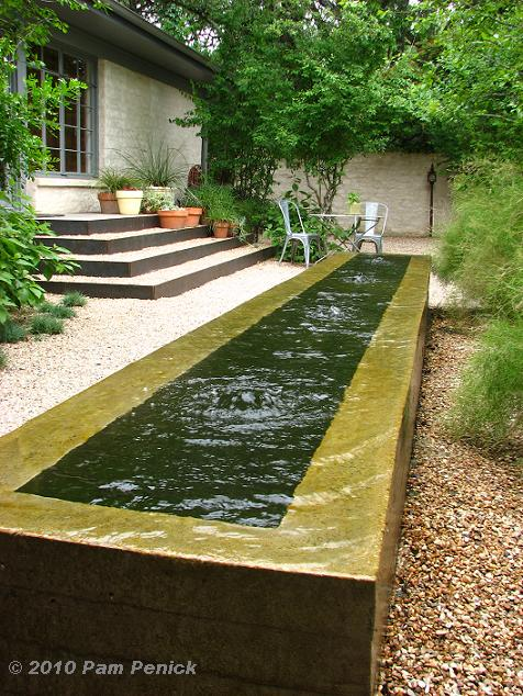 City Garden Design Ideas: Landscaping, Design, Water Feature And Stream In The