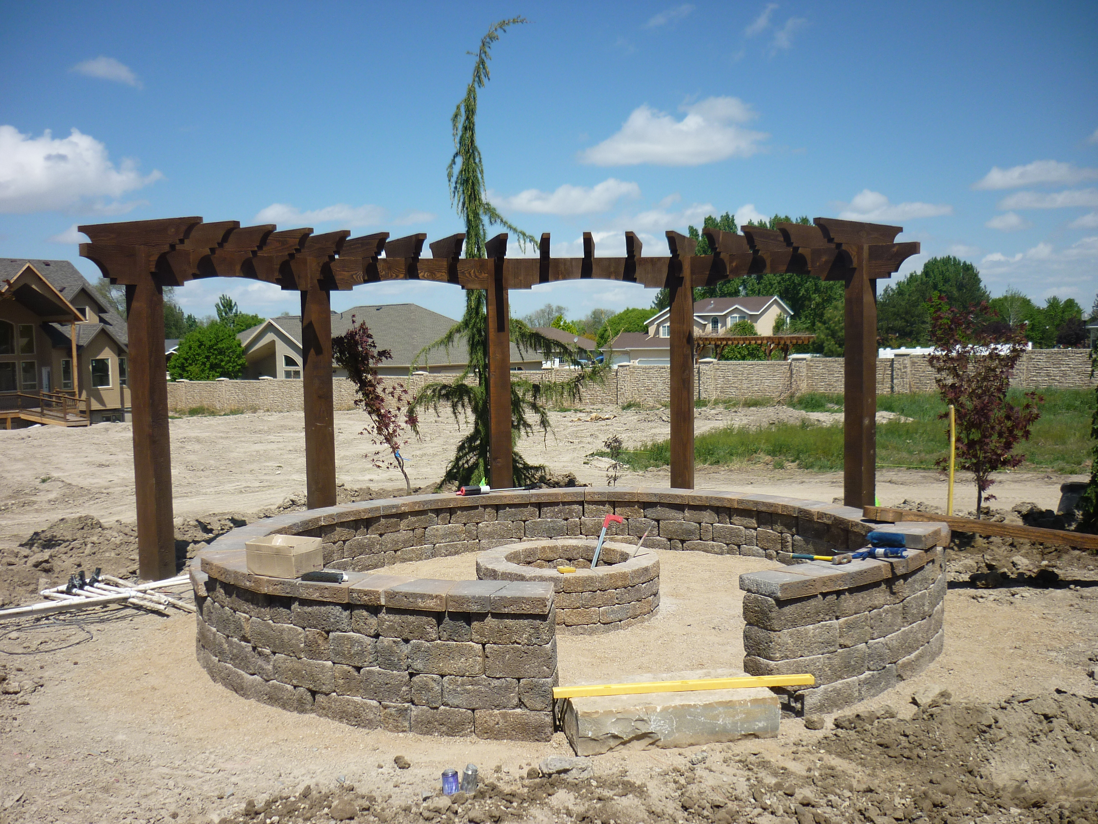 Utah landscaper landscaping the front and backyard for Pool design utah