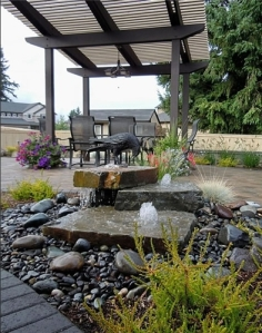 pondless-Landscaping, design, Water feature and stream in the backyard