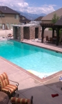 Swimming pool in South Jordan city Utah