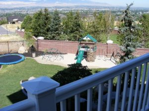 Backyards, Trampoline, sand box, chipping green, Fire pits in Draper Utah