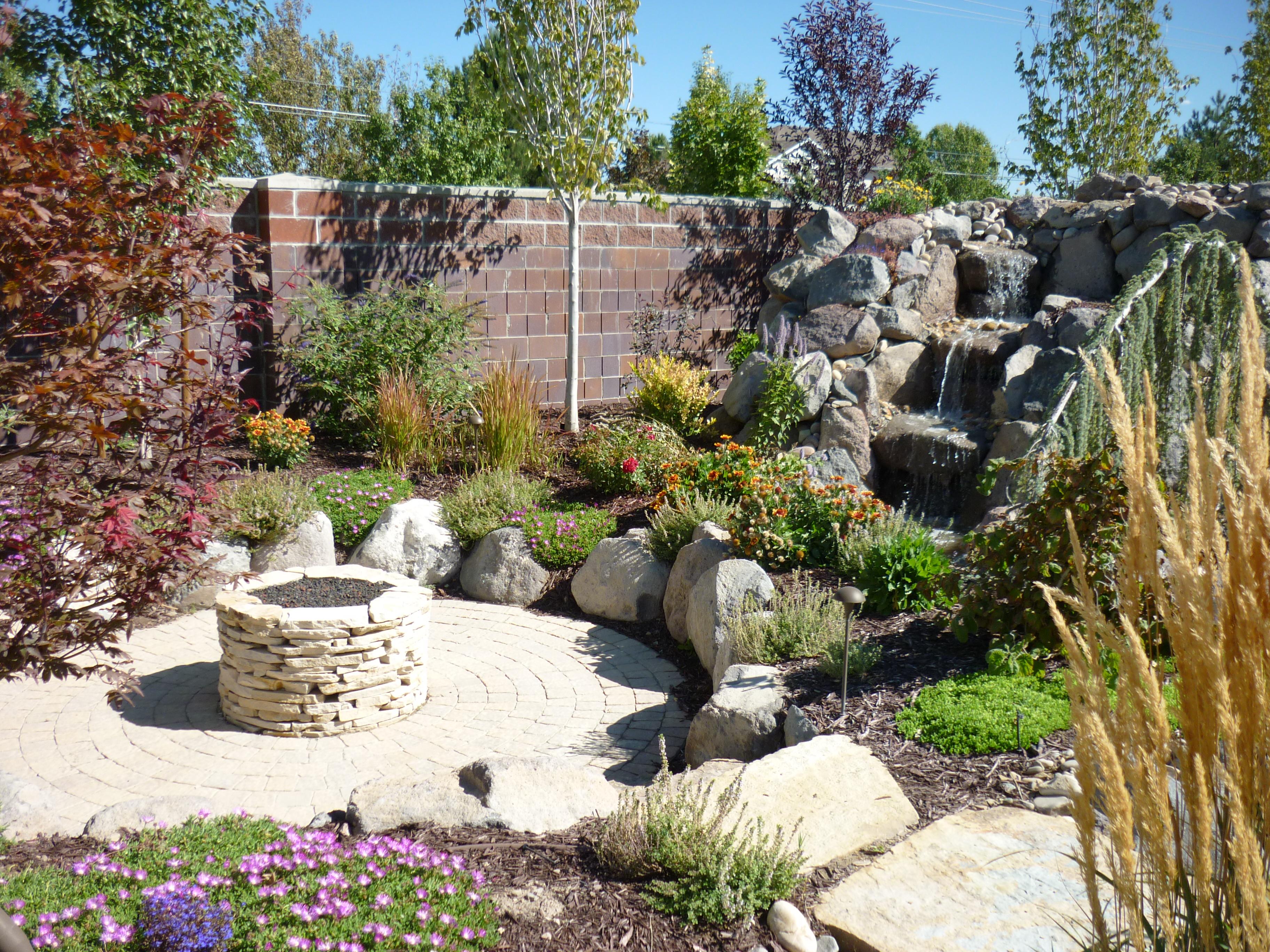 Rock stairs chris jensen landscaping in salt lake city for Landscaping rocks utah county