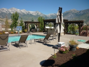 Pergola, BBQ, Pool, Pool decking in Highland, Utah