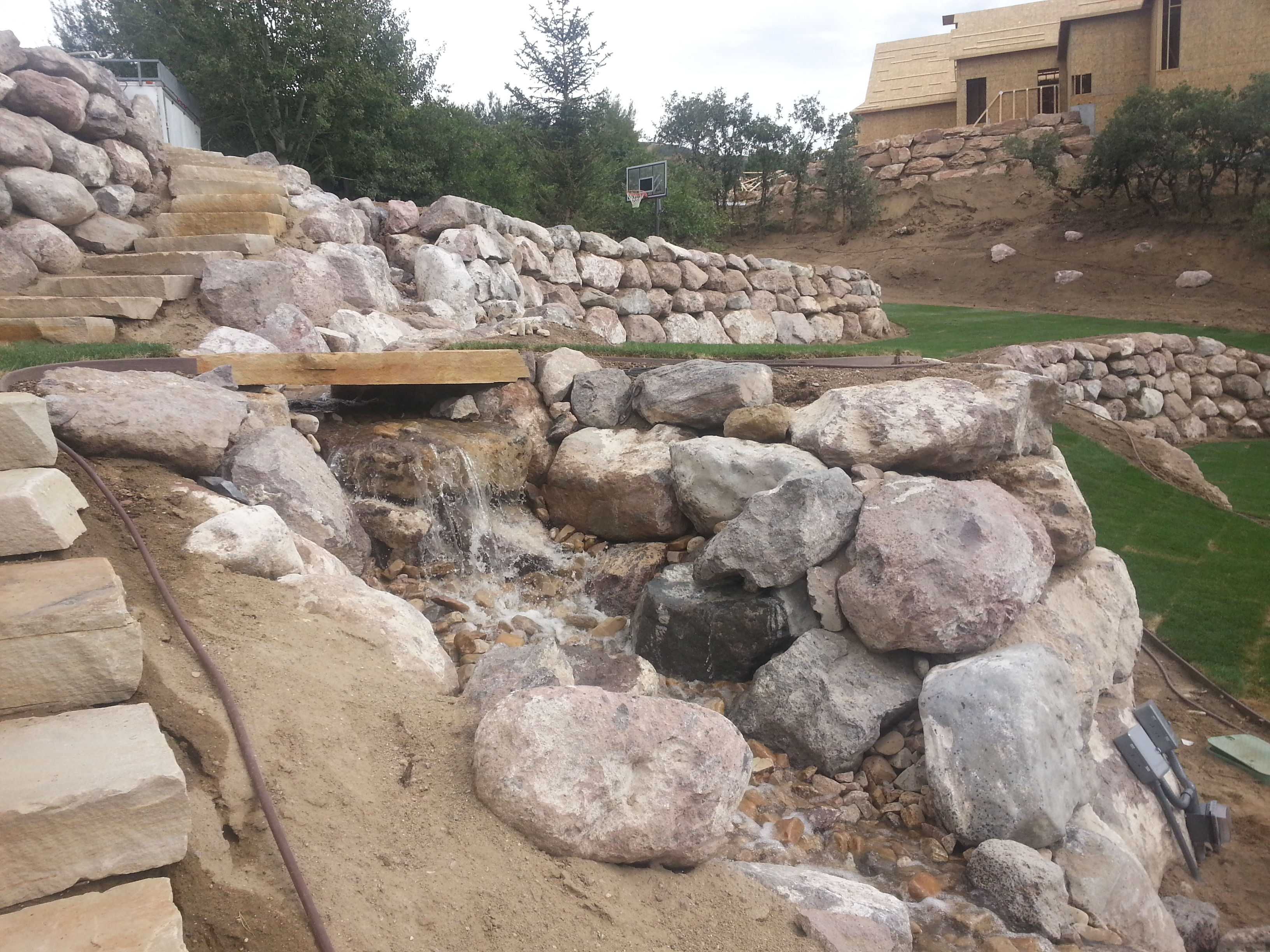 Fire pits chris jensen landscaping in salt lake city and for Landscaping rocks
