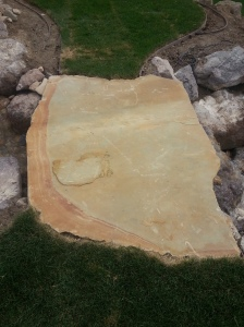 Water fall stone slab