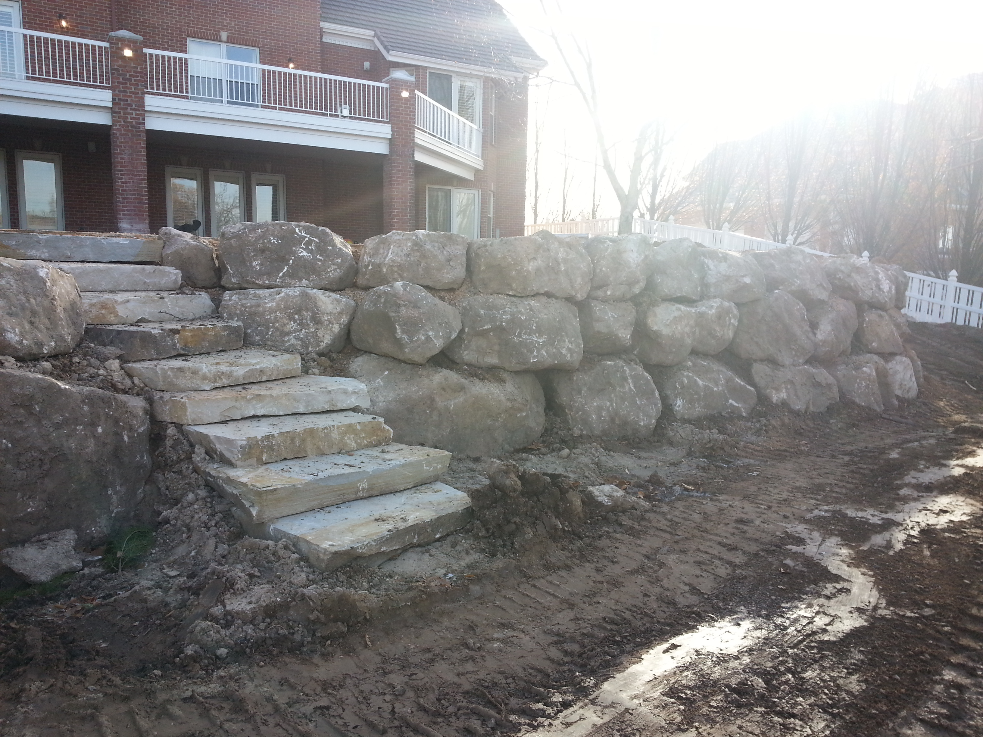 Rockwall And Rock Steps